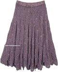 Empress Lavender Hippie Full Crochet Skirt Cotton