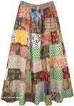 Cotton Long Broomstick Patchwork Happy Hippie Maxi Skirt