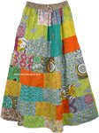 Forever Hippie Cotton Long Broomstick Patchwork Maxi Skirt