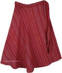 XL Natural Woven Gheri Cotton Artsy Bohemian Wrap Skirt