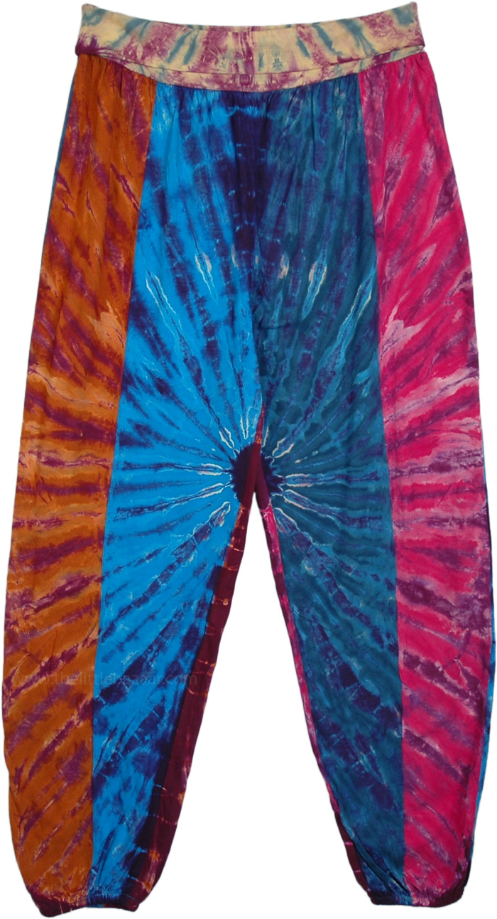 Cosmic Eye Harem Style Pants with Yoga Waist