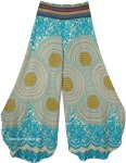 Sun Burst Mandala Print Side Cut Palazzo Pants