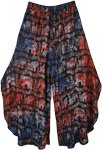 Gypsy Elephant Parade Side Cut Palazzo Pant Skirt
