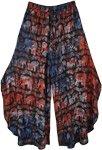 Gypsy Elephant Parade Side Cut Palazzo Pant Skirt