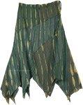 Basil Breeze Patchwork Hippie Uneven Hem Skirt