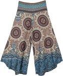 Mystic Chakra Wide Leg Boho Festival Pants with Woven Waist