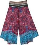 Red Myst Wide Leg Pants Mandala Thai Print