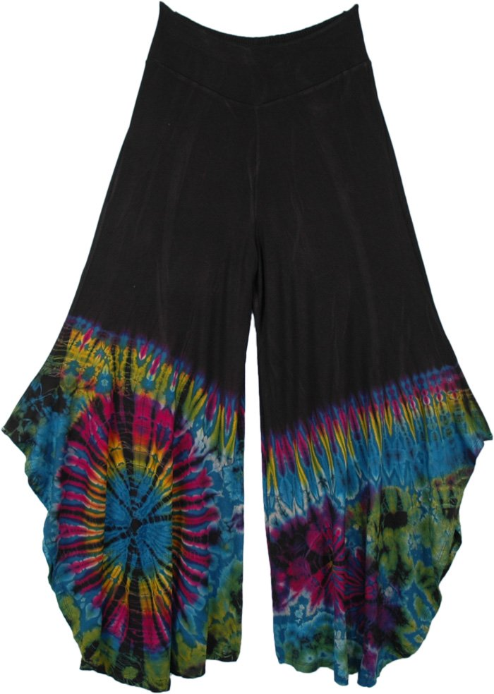 Enigmatic Split Skirt Very Wide Leg Pants with Deep Slits