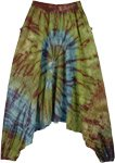 Earth Inspired Woven Cotton Aladdin Tie Dye Pants