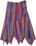 Vibgyor Carnival Asymmetrical Patchwork Pixie Skirt