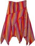 Rising Sun Asymmetrical Patchwork Pixie Skirt