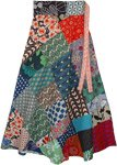 Sunshine Mixed Patchwork Wrap Around Cotton Skirt