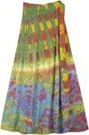 Natural Palette Tie Dye Long Wrap Around Skirt
