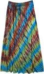 Island Vacation Tie Dye Long Summer Skirt