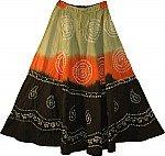 Tie Dye Skirt Dancing Skirt