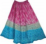 Tapestry Skirt w/ Sequin Skirt