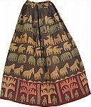 Tobacco Brown Bohemian Long Skirt
