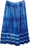 Fiord Marble Tie Dye Blue Long Skirt