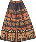 Applique Bohemian Long Skirt