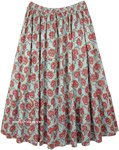XXL Floral Full Maxi Cotton Long Summer Skirt