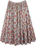 XXL Floral Full Maxi Cotton Long Summer Skirt