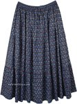 East Bay Plus Size Summer Printed Cotton Skirt