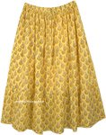 XXL Cali Sunshine Floral Yellow Summer Long Skirt