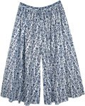 Plus Size Cotton Printed Palazzo Pants with Pocket