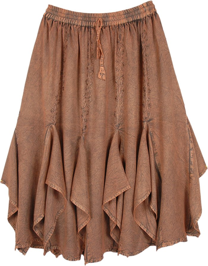Mid Length Western Chestnut Copper Skirt