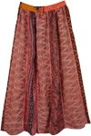 Chestnut Rose Vertical Patch Long Skirt