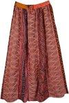 Chestnut Rose Vertical Patch Long Skirt