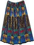 Tribal Hippie Summer Crinkled Long Skirt