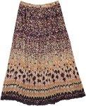 Autumn Hues Crinkled Cotton Summer Skirt