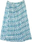 Bluestar Amsonia Crinkled Printed Long Skirt