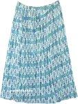 Bluestar Amsonia Crinkled Printed Long Skirt