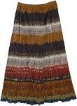 Dark Tribe Crinkled Cotton Summer Skirt