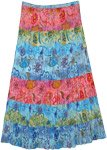 Timeless Colors Crinkle Summer Cotton Long Skirt XL