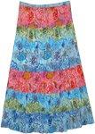 Timeless Colors Crinkle Summer Cotton Long Skirt XL