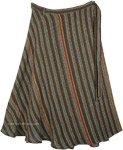 Earthy Streaks Woven Wrap Throw Plus Long Skirt