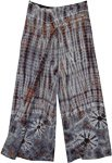 Smokey Woods Tie Dye Front Slit Rayon Tall XL Trousers