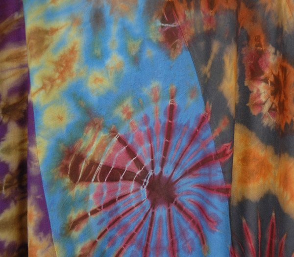 Tie Dye Island Multicolored Rayon Long Skirt