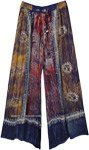 Tribal Dusk Hippie Wide Leg Rayon Pants