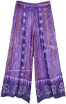 Amethyst Batik Wide Leg Lounge Pants in Rayon