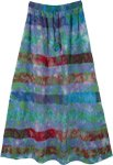 Speckled Tie Dye Raw Handloom Cotton Long Skirt