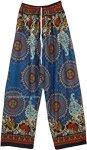 Royal Boho Mandala Printed Wide Leg Rayon Pants
