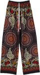 Boho Floral and Mandala Printed Wide Leg Rayon Pants