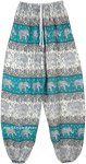 Bahamas Green Elephant Parade Elastic Bottom Pants