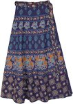Ethnic Animal Motif Printed Wrap Skirt