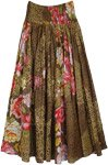 Floral and Animal Printed Long Cotton Summer Skirt