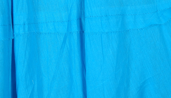 Strobe Blue Full Tiered Cotton Long Skirt
